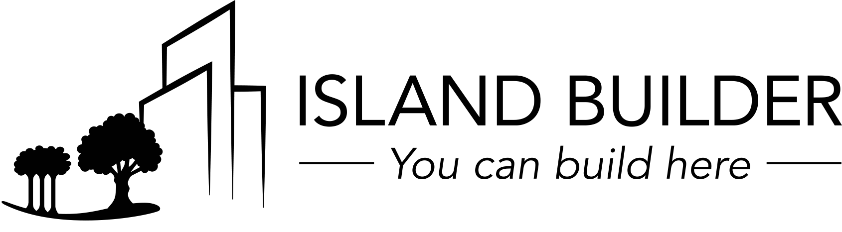 Island Builder Black Logo